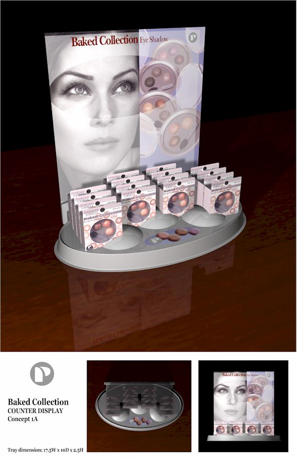 Star Plastic thermoformed tray for cosmetic counter display
