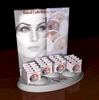 thermoformed display counter packaging, cosmetics industry