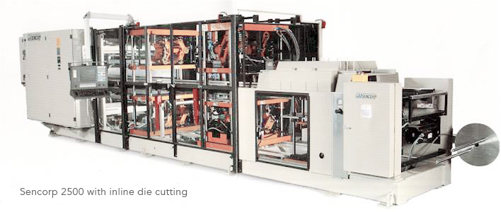 large format, high volume thermoforming machine